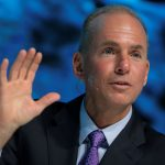 "下載自路透 President, Chairman and CEO of The Boeing Company Dennis Muilenburg speaks at the ""What's Next?"" conference in Chicago, Illinois, U.S., October 4, 2016.    REUTERS/Jim Young  - RTSQQVF"