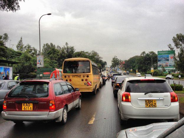 traffic Jam in Nairobi, Kenya