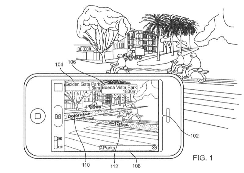 蘋果通過 AR 導航專利,可以透過相機看到虛擬路名