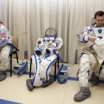 下載自路透 International Space Station (ISS) crew members Russian cosmonaut Oleg Skripochka (R) and U.S. astronaut Scott Kelly prepare for an examination session at the Star City space centre outside Moscow, September 15, 2010. Skripochka and Kelly are due to travel by Soyuz space craft to the International Space Station in October.  REUTERS/Sergei Remezov  (RUSSIA - Tags: SCI TECH TRANSPORT) - RTR2ICS5