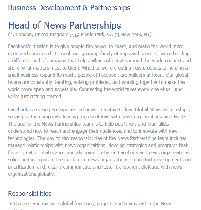 2016-12-13 Head of News Partnerships _ Facebook Careers