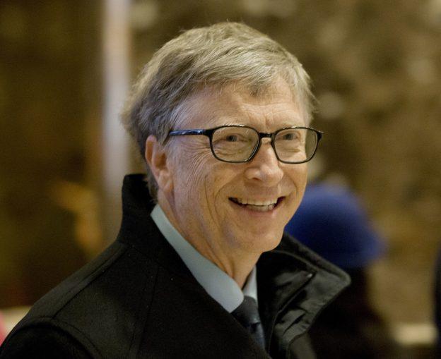 圖片來源:《達志影像》 圖片取自美聯社 Bill Gates arrives to Trump Tower in New York, Tuesday, Dec. 13, 2016. (AP Photo/Seth Wenig)