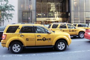 Hybrid taxis in Manhattan