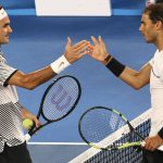 下載自路透 Tennis - Australian Open - Melbourne Park, Melbourne, Australia - 29/1/17  Switzerland's Roger Federer shakes hands after winning his Men's singles final match against Spain's Rafael Nadal. REUTERS/David Gray - RTSXVU9