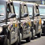 Flickr/Garry Knight   CC BY 2.0  London black cabs at a taxi rank at Covent Garden.