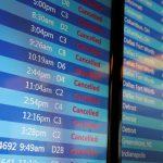 下載自路透 A flight monitor shows cancelled flights at LaGuardia Airport in New York, U.S., March 14, 2017. REUTERS/Shannon Stapleton - RTX30YPO