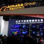 下載自路透 A sign of Alibaba Group is seen during the third annual World Internet Conference in Wuzhen town of Jiaxing, Zhejiang province, China November 16, 2016. REUTERS/Aly Song - RTX2TX53