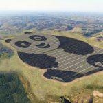 中國用貓熊的外型蓋了一座 100 公頃大的太陽能發電廠