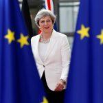 下載自路透社 British Prime Minister Theresa May arrives at the EU summit in Brussels, Belgium, June 23, 2017.         REUTERS/Francois Lenoir - RTS18AYZ