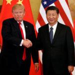 下載自路透 U.S. President Donald Trump and China's President Xi Jinping make joint statements at the Great Hall of the People in Beijing, China, November 9, 2017. REUTERS/Jonathan Ernst - RC1CFD862A40