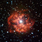 M1-67 is the youngest wind-nebula around a Wolf-Rayet star, called WR124, in our Galaxy. These Wolf-Rayet stars start their lives with dozens of times the mass of our Sun, but loose most of it through a powerful wind, which is ultimately responsible for the formation of the nebula. Ten years ago, Hubble Space Telescope observations revealed a wealth of small knots and substructures inside the nebula. The same team, led by Cédric Foellmi (ESO), has now used ESO's Very Large Telescope (VLT) to watch how these structures have evolved and what they can teach us about stellar winds, their chemistry, and how they mix with the surrounding interstellar medium, before the star will eventually blow everything away in a fiery supernova explosion. The image is based on FORS1 data obtained by the Paranal Science team with the VLT through 2 wide (B and V) and 3 narrow-band filters.