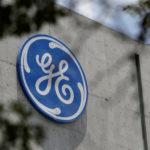 下載自路透 The logo of General Electric Co. is pictured at the Global Operations Center in San Pedro Garza Garcia, neighbouring Monterrey, Mexico, on May 12, 2017. REUTERS/Daniel Becerril - RC1A633B01B0
