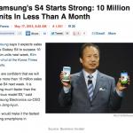 Galaxy S4 28天出貨千萬部是成就!iPhone 三天賣 500 萬部,令人失望?
