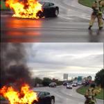 火燒車調查結案,特斯拉電動車全身而退