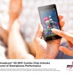 博通推出首款智慧型手機專用的 5G WiFi 2×2 MIMO 組合晶片