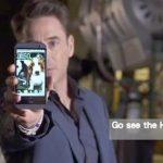 Robert Downy Junior holding HTC One M8 source: MoneyDJ
