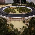 無人機空拍蘋果未來「飛碟」總部施工現況