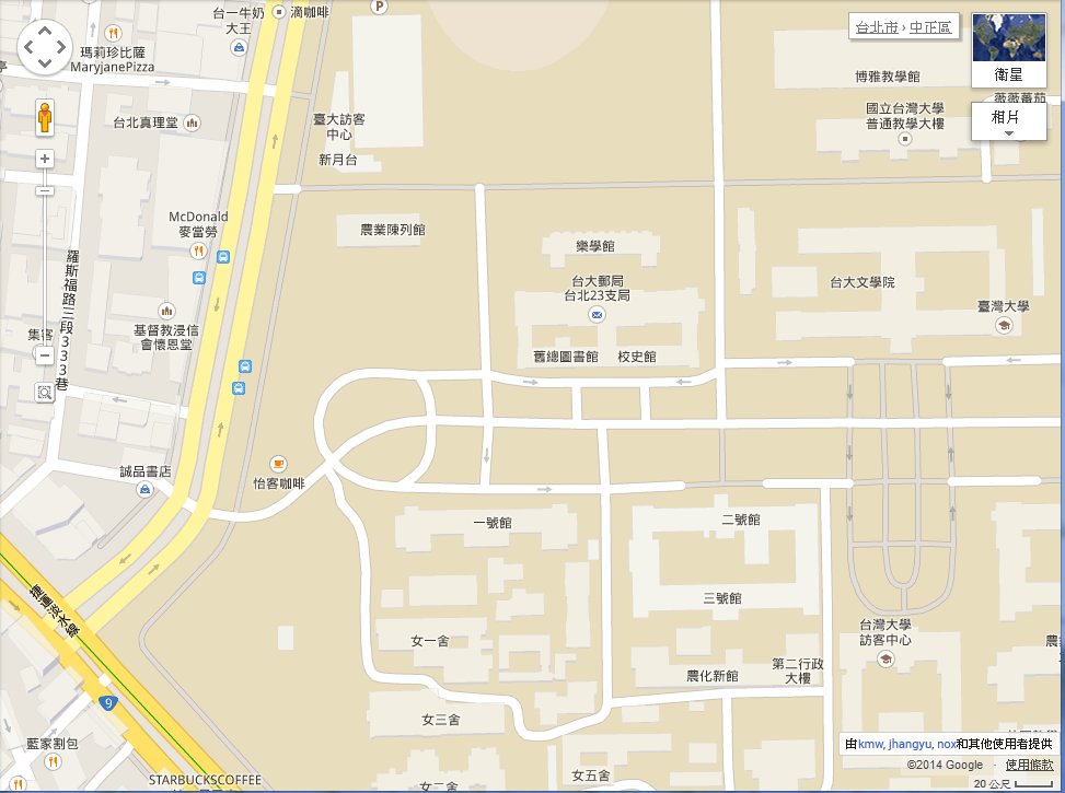 Google Map Maker-national-taiwan-university