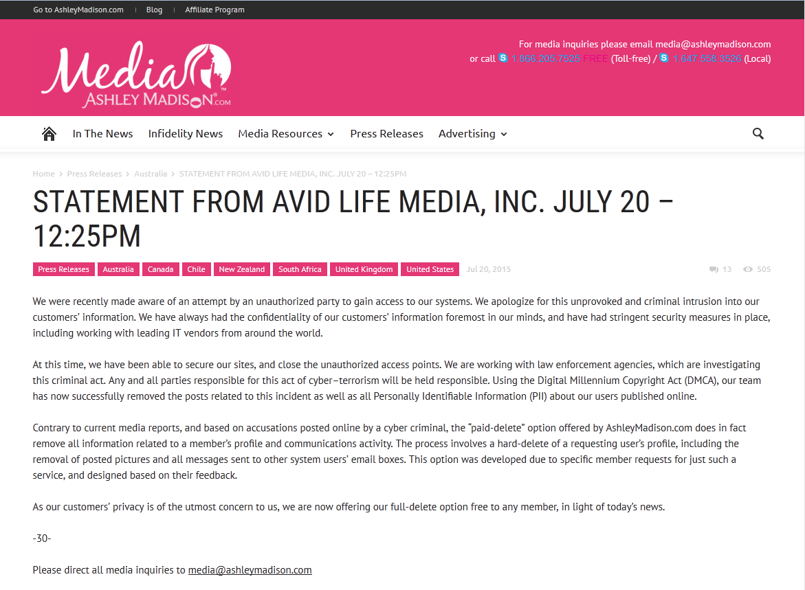 2015-07-21 12_19_52-STATEMENT FROM AVID LIFE MEDIA, INC