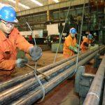 圖片來源:《達志影像》 圖片取自路透社Employees work at a factory of Dongbei Special Steel Group in Dalian, Liaoning province, March 31, 2016. REUTERS/China Daily ATTENTION EDITORS - THIS PICTURE WAS PROVIDED BY A THIRD PARTY. THIS PICTURE IS DISTRIBUTED EXACTLY AS RECEIVED BY REUTERS, AS A SERVICE TO CLIENTS. CHINA OUT. NO COMMERCIAL OR EDITORIAL SALES IN CHINA. - RTSD3AV