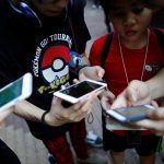 "下載自路透 Participants take part in the world's first ""Pokemon Go"" competition in Hong Kong, China, August 6, 2016. REUTERS/Tyrone Siu - RTSLDA0"