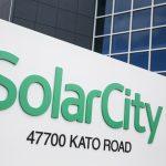下載自路透 A logo sign outside of a facility occupied by SolarCity in Fremont, California on January 23, 2016. Photo by Kristoffer Tripplaar *** Please Use Credit from Credit Field ***