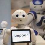 下載自美聯社 Pepper the robot of Softbank Robotics Europe performs during the Innorobo European summit, an event dedicated to the service robotics industry in Aubervilliers, outskirts of Paris, Wednesday, May 25, 2016. (AP Photo/Francois Mori)