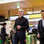 Tim Cook 日本趴趴走?其實是宣傳 Apple Pay 可以用來搭 JR