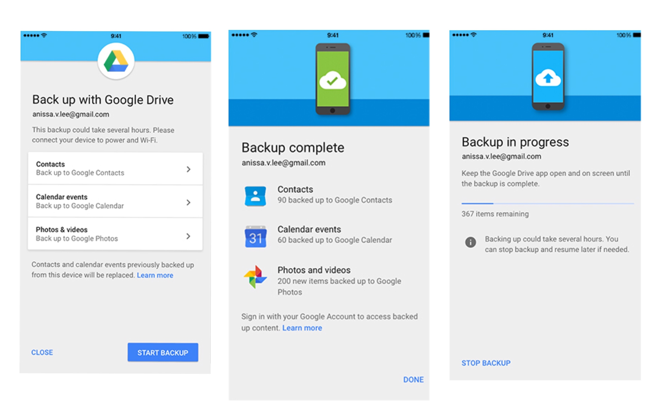 google drive for iphone 吸引 iphone 用戶跳槽 ios 版 drive 將支援備份聯絡人 行事曆 technews 科技新報 14215