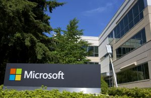 REDMOND, WASHINGTON - JULY 17: A building on the Microsoft Headquarters campus is pictured July 17, 2014 in Redmond, Washington. Microsoft CEO Satya Nadella announced, July 17, that Microsoft will cut 18,000 jobs, the largest layoff in the company's history. (Stephen Brashear/Getty Images)