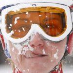 下載自路透 Switzerland's Fabienne Suter reacts after she finished her run during the women's Alpine Skiing World Cup downhill race in the Swiss mountain resort of Crans-Montana March 6, 2010. Lindsey Vonn of the U.S. won the competition ahead of Italy's Johanna Schnarf and Marianne Abderhalden of Switzerland.   REUTERS/Arnd Wiegmann (SWITZERLAND - Tags: SPORT SKIING HEADSHOT IMAGES OF THE DAY) - RTR2BAKR
