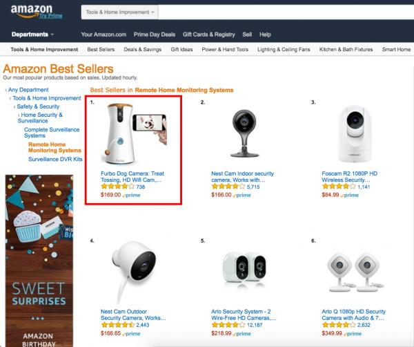 台灣品牌Tomofun 創意研發Furbo 狗狗攝影機,Amazon Prime Day