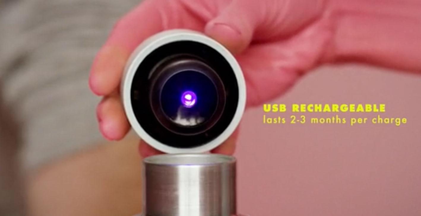不用洗也超乾淨!智慧水瓶 QUARTZ Bottle 採用 UVC LED 自動消滅細菌