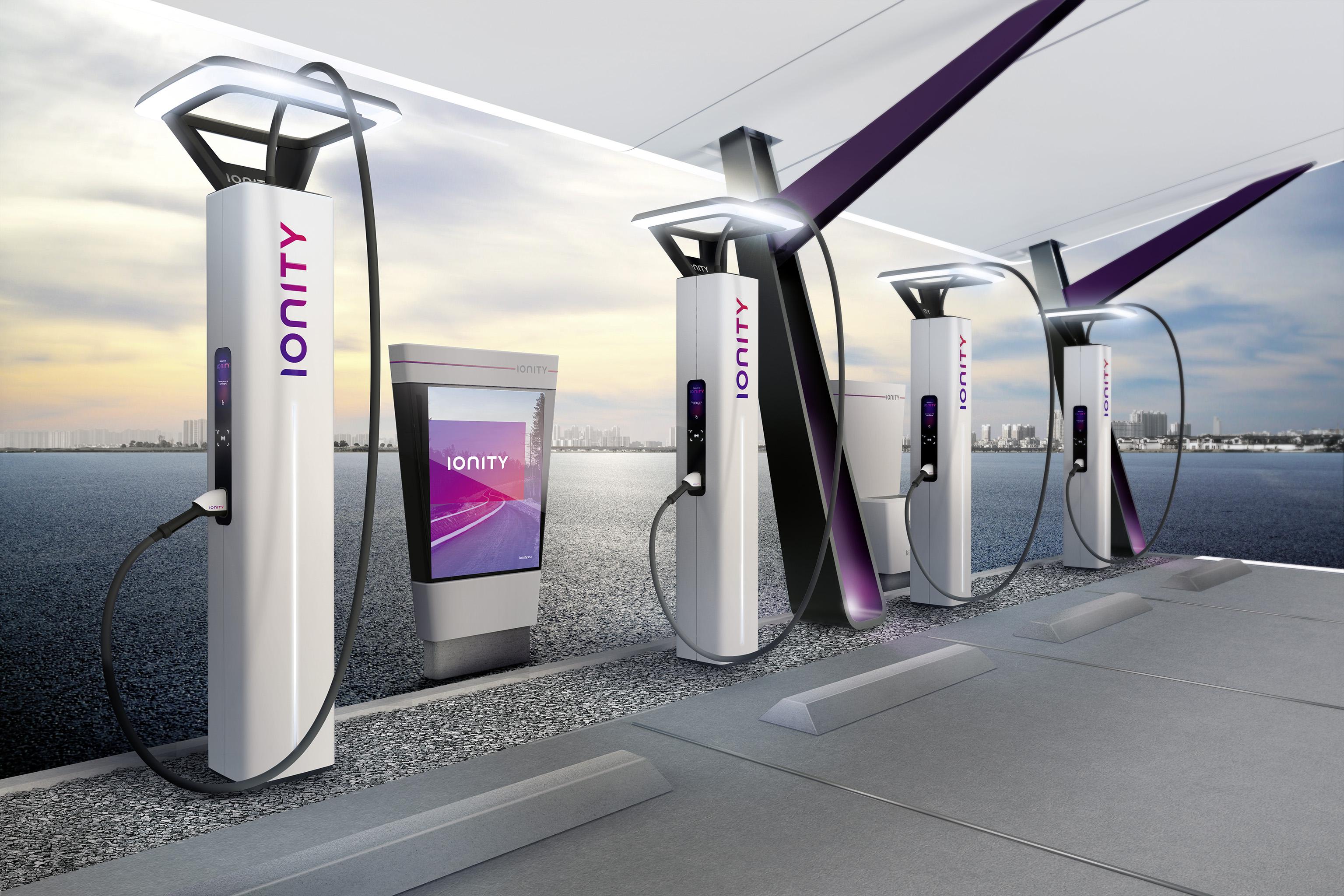 想趕上特斯拉,Ionity 公布超快速充電網路設計概念