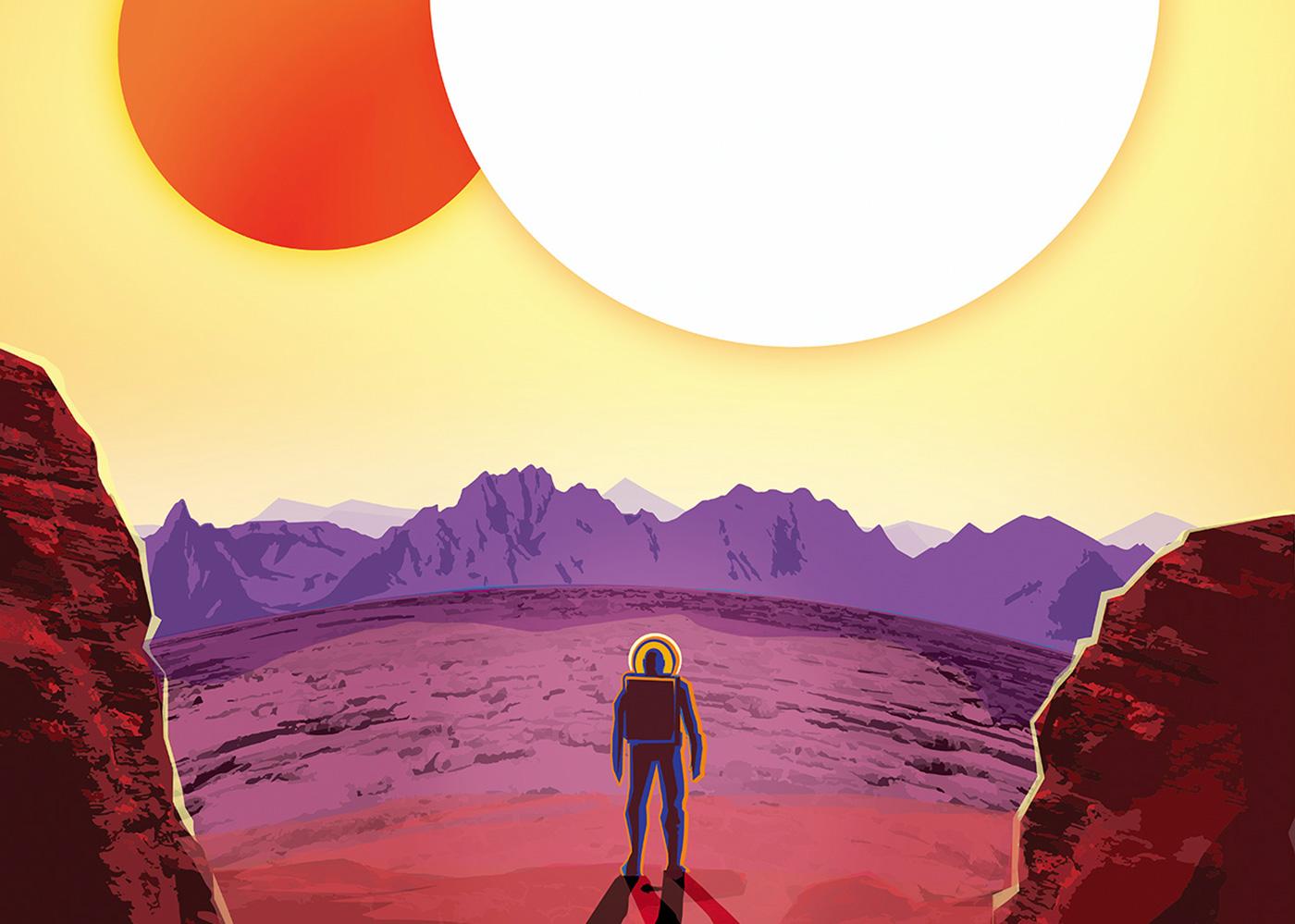 NASA 邀你去系外行星旅行,看血紅色天空和孿生太陽