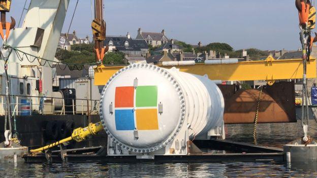 節能省電新招,微軟資料中心沉入海底