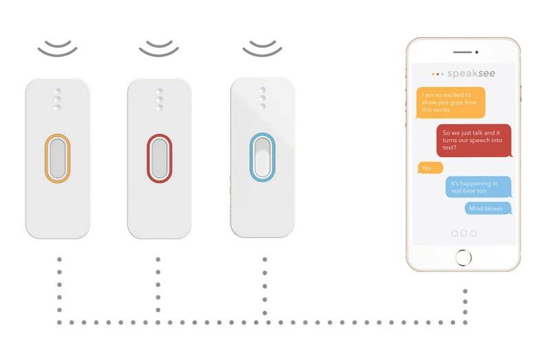 想讓聾人重新「聽見」,「SpeakSee」打造多人即時語音翻譯的麥克風產品
