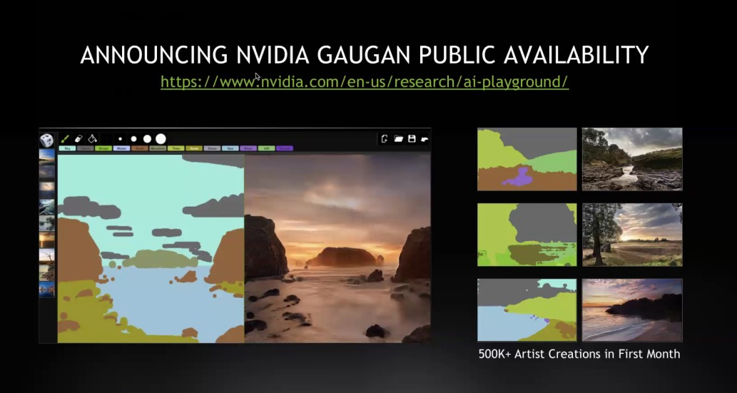 Nvidia 正式發布 AI 輔助麻瓜畫圖工具 GauGAN,以及 AR 重現登月歷史場景